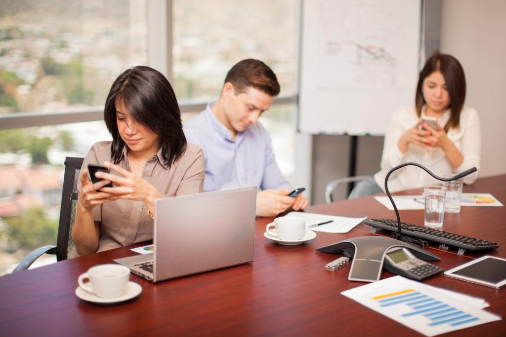 Social media beats work