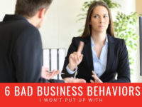 bad business behavior